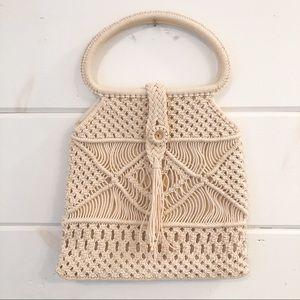 VINTAGE | Crochet Handbag Cream